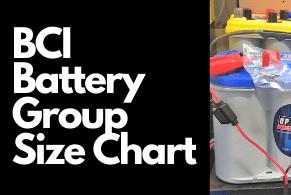 BCI Battery Group Size Chart